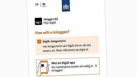 Inlogscherm DigiD ziet er niet meer hetzelfde uit, wat is er veranderd?}