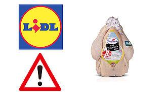 Lidl roept kip terug wegens gevaar voor salmonella