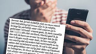 Let op: vals WhatsAppje over vreemdgaan