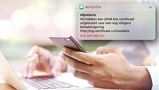 Nep-sms en valse mail over een 'extra veiligheidsmaatregel van ING'