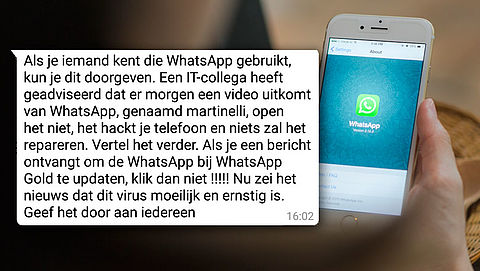 Let op: WhatsApp-bericht over martinelli-video is een hoax}
