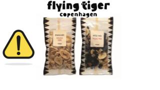Flying Tiger waarschuwt voor salmonellabacterie in muesli en bananenchips