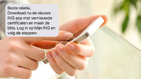 Let op: valse sms van 'ING'!}
