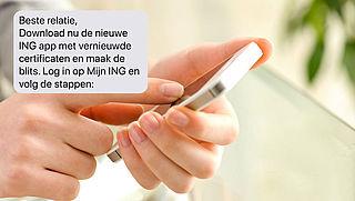 Let op: valse sms van 'ING'!