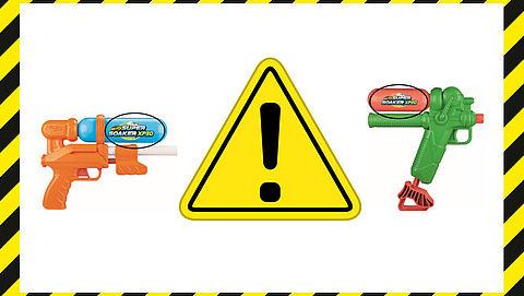 Terugroepactie: stickers op waterpistolen Super Soaker bevat lood