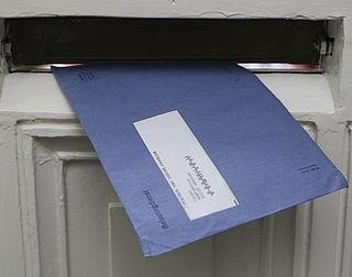 Blauwe envelop verdwijnt