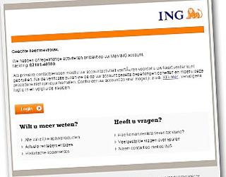 Phishingmail misbruikt naam ING