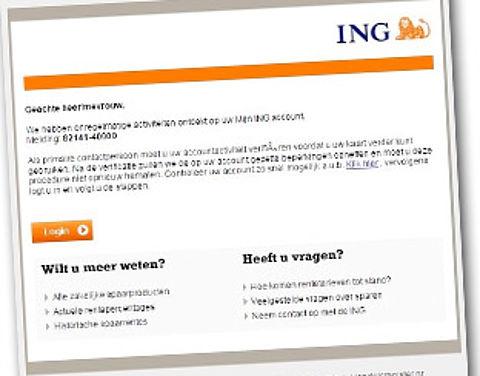 Phishingmail misbruikt naam ING}