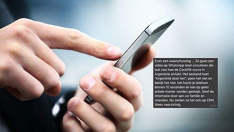 WhatsAppbericht over gehackte telefoon door video 'Argentinië doet het' over COVID is een hoax