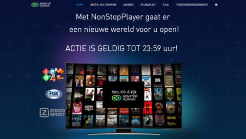 NonStopPlayer levert illegaal content via niet-geleverde mediaspeler