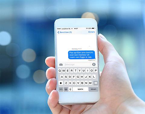 Pas op: nep-sms van Ziggo, phishing over aanmaning en geblokkeerde pas}