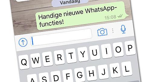 Nieuwe WhatsApp-functies voor iPhone-gebruikers}