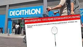 Decathlon roept badmintonracket terug vanwege 'losrakende kop'
