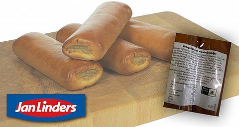Foute etiketten op worstenbroodjes supermarktketen Jan Linders }