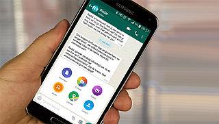 Android-gebruikers kunnen via WhatsApp alle bestandstypes naar elkaar versturen