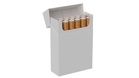 Studie naar blanco sigarettenpakjes}