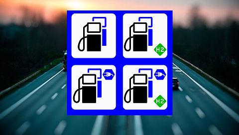 Nieuw verkeersbord geïntroduceerd voor laadpalen bij tankstation
