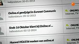 Online.nl vaak offline