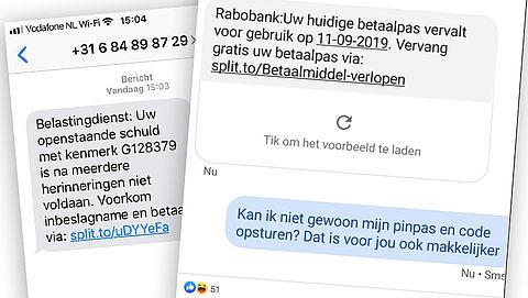 Pas op! Malafide sms'jes met split.to-link in omloop