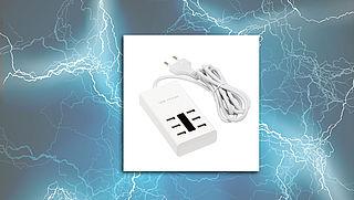 Kans op schok door USB-stekker