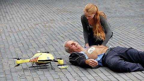 Drone met defibrillator sneller ter plaatse dan ambulance