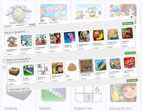 Virussen in nep-games Google Play}