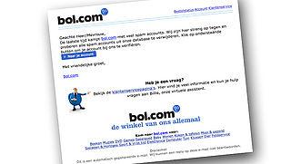 Let op: phishingmail van 'bol.com'