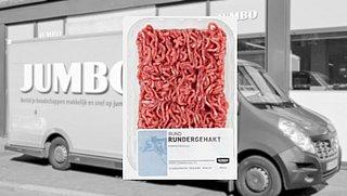 Gehakt bij Jumbo voortaan in zakje: 'Dat scheelt enorm in de hoeveelheid plastic'