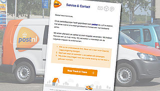 Valse mail: 'Uw pakket is ontvangen door PostNL'