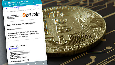 Trap niet in nepmail over bitcoin-uitbetaling}