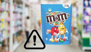 Terugroepactie zakken M&M's crispy door verboden ingrediënt