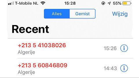Pas op voor gemiste oproepen van Algerijnse en Tunesische nummers