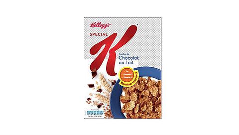 Soja, melk, tarwe en gerst onvermeld op verpakking Kellogg's}