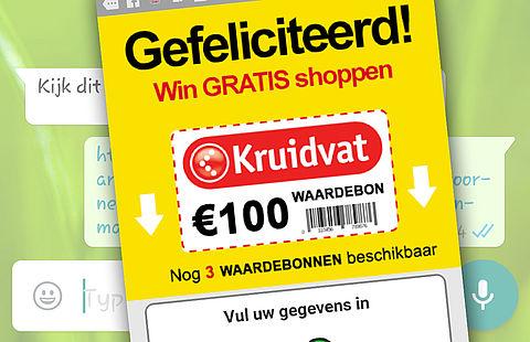 Pas op voor 'Kruidvat'-phishing via WhatsApp