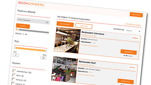 Restaurantbranche komt met reserveringssite