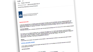 Nieuwe nepmail 'CJIB': rijbewijs inleveren en boete betalen