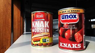 Wat is 'puur kwaliteitsvlees' op knakworstverpakking van Unox en Struik?