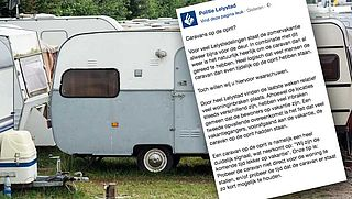 Op vakantie? 'Zet je caravan niet voor je deur', waarschuwt de politie