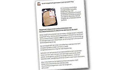 Kipgehakt HEMA bevat mogelijk listeriabacterie