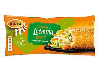 Mora roept Groentenloempia's terug, snacks bevatten ham en kip