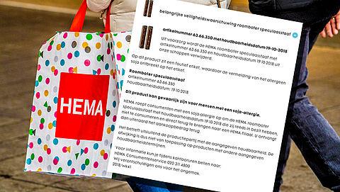 HEMA waarschuwt consument voor roomboter-speculaasstaaf