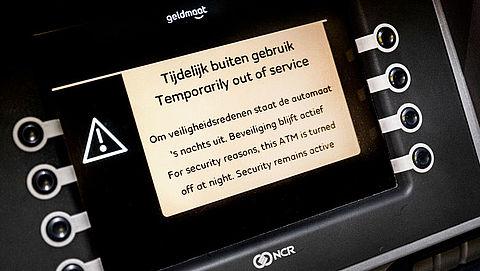 Meeste geldautomaten blijven 's nachts gesloten