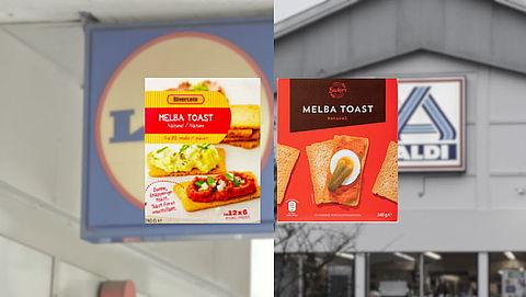 Terugroepactie Melba Toast Lidl en Aldi