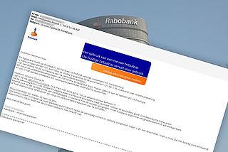 'Rabobank' mailt over bevestiging incasso-opdracht