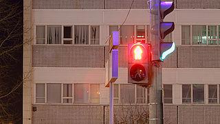 Te lang wachten voor rood stoplicht