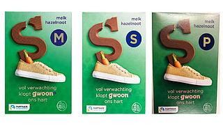 G'woon roept chocoladeletters terug om stukjes plastic