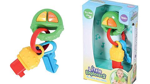 Pas op: verstikkingsgevaar bij speelgoed 'My First Key Chain'