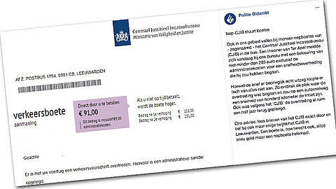 CJIB waarschuwt voor nepbekeuringen met Litouws rekeningnummer}