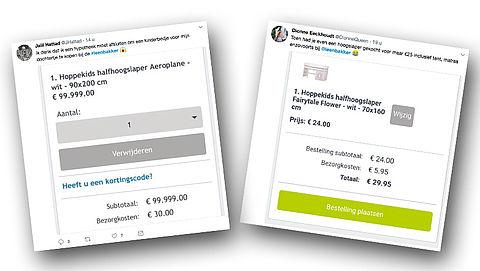 Leen Bakker maakt foutje in webshop: een hoogslaper voor 24 euro}