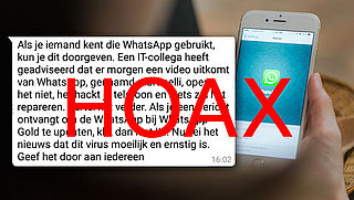 Let op: WhatsApp-bericht over martinelli-video is een hoax